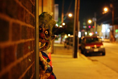 La casa embrujada Slaughterhouse en Deep Ellum, Dallas. (BEN TORRES)
