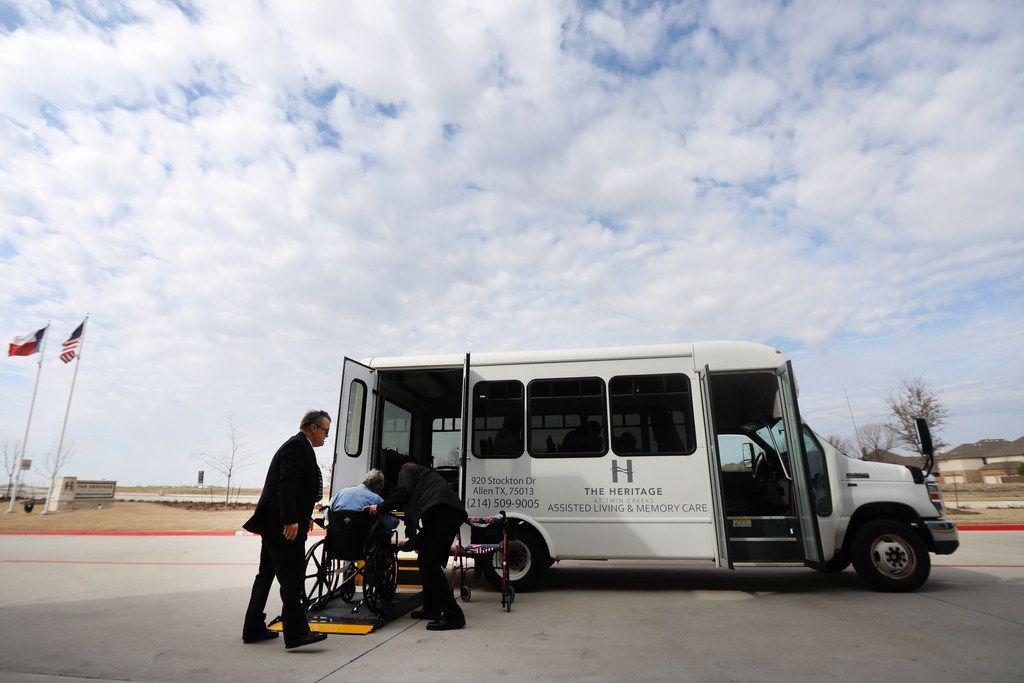 Envoy America picks up passengers at The Heritage at Twin Creeks in Allen.  Envoy America is one of a few services that helps seniors get where they need to go. The service is new to the area and has branded itself as an Uber-style rideshare service.
