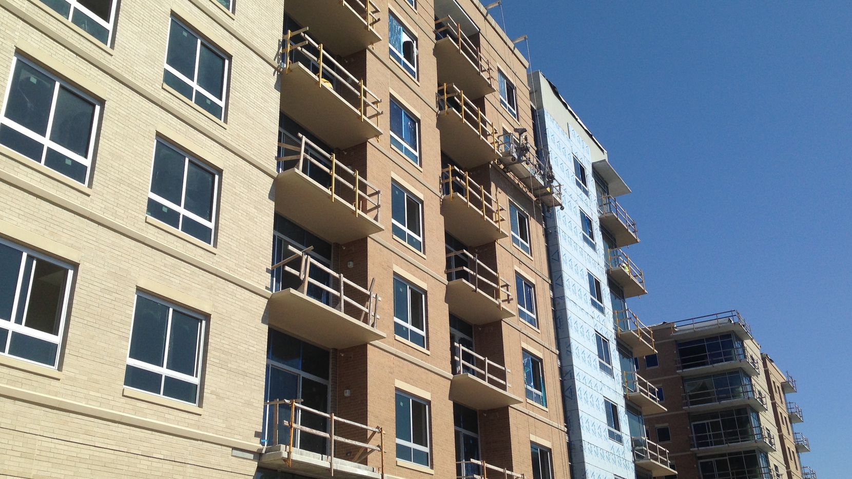 The 215-unit The Katy apartments on are Cole Avenue near Knox Street on the edge of Highland Park.