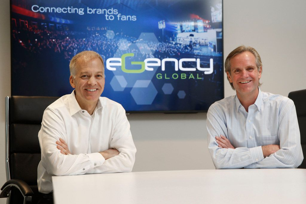 Chris Stone (left) is president and founder of the Trade Group and CEO of eGency Global. Starke Taylor is CEO of LST Marketing and president of eGency.