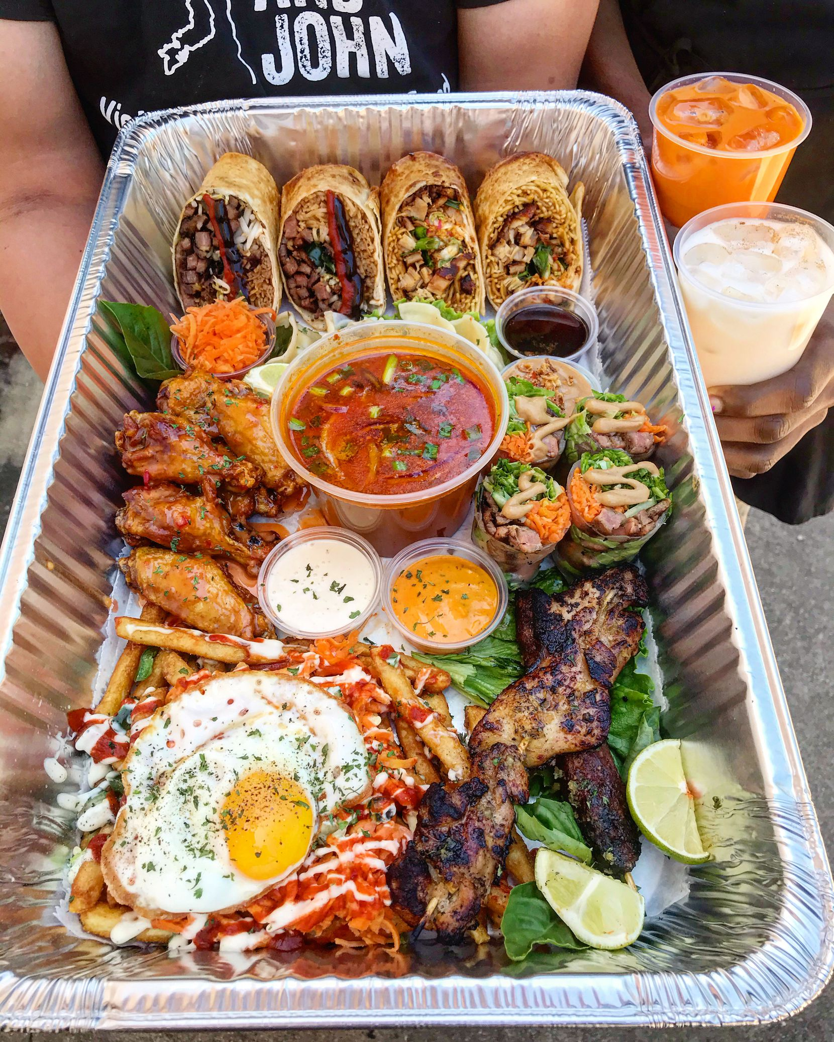 "The ""Table for Four"" platter from Cris and John in North Dallas."
