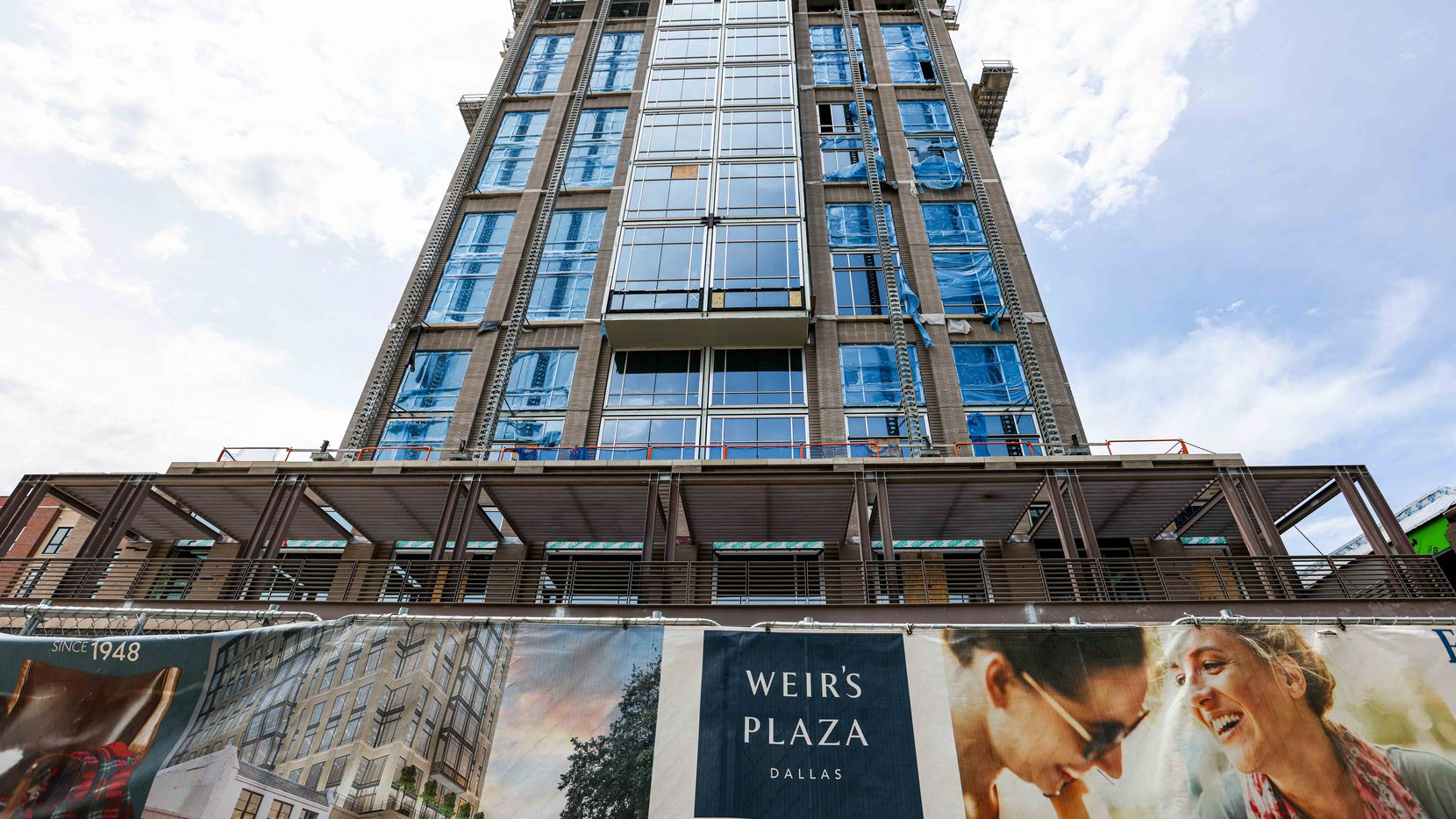 The Weir's Tower under construction on Knox Street in Dallas will be completed in November.