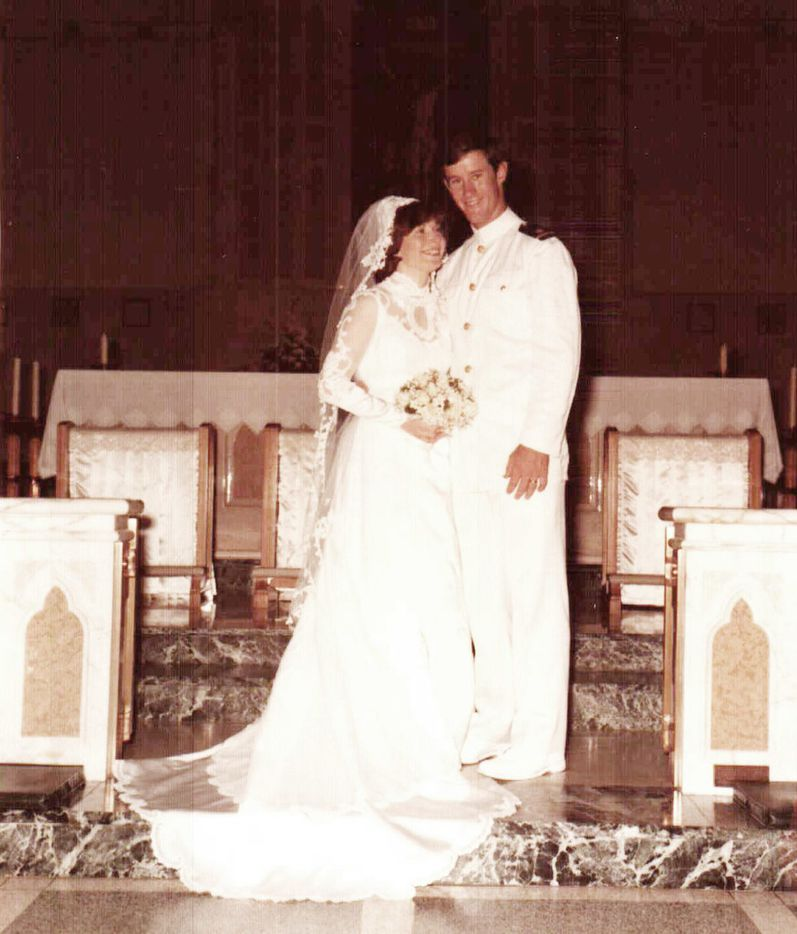 Georgeann and Bill McRaven at their wedding at St. Thomas Aquinas Catholic Church in Dallas in May 1978.