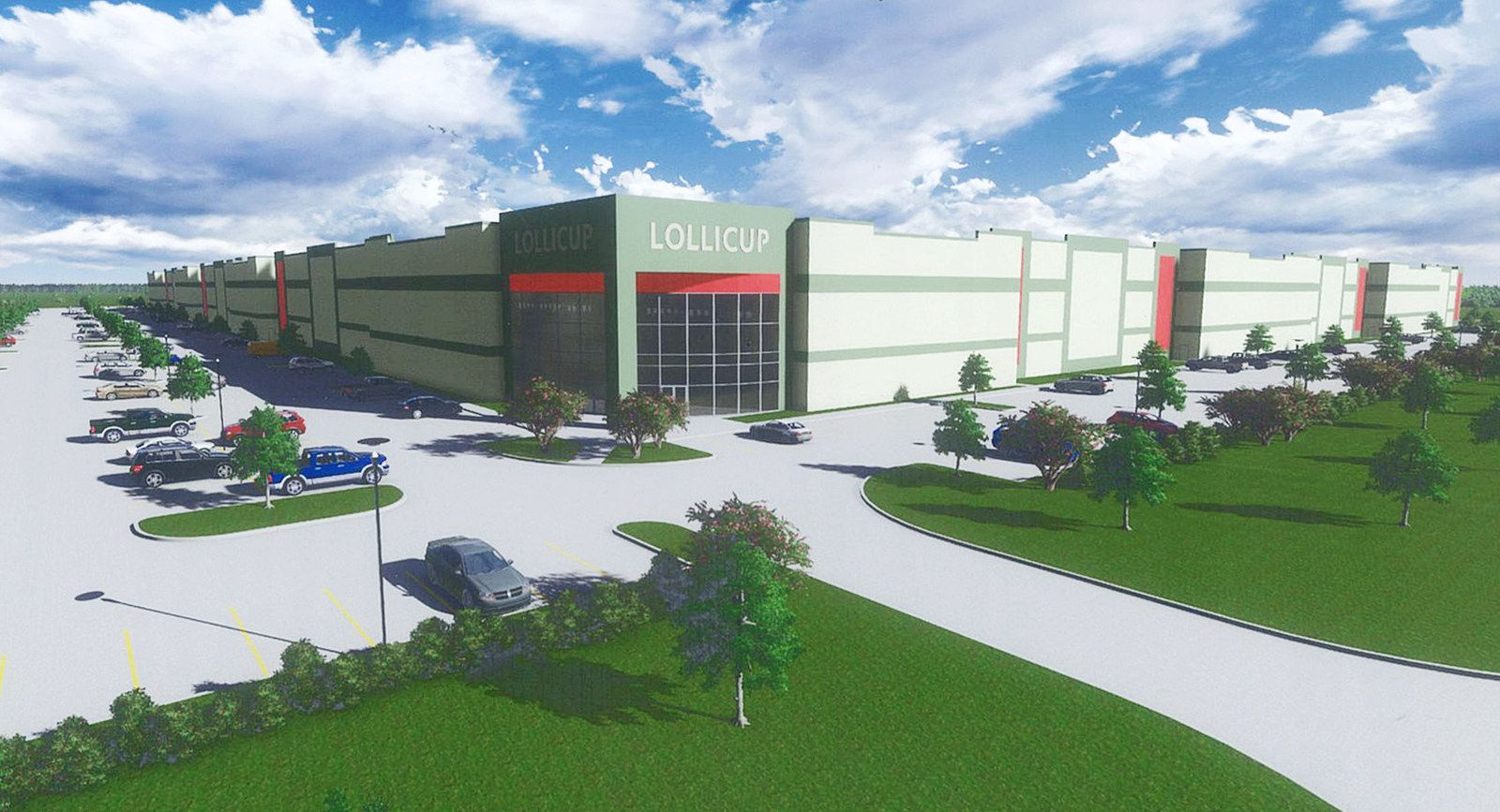 Rendering of Lollicup USA manufacturing plant in Rockwall that will employ 200 people.
