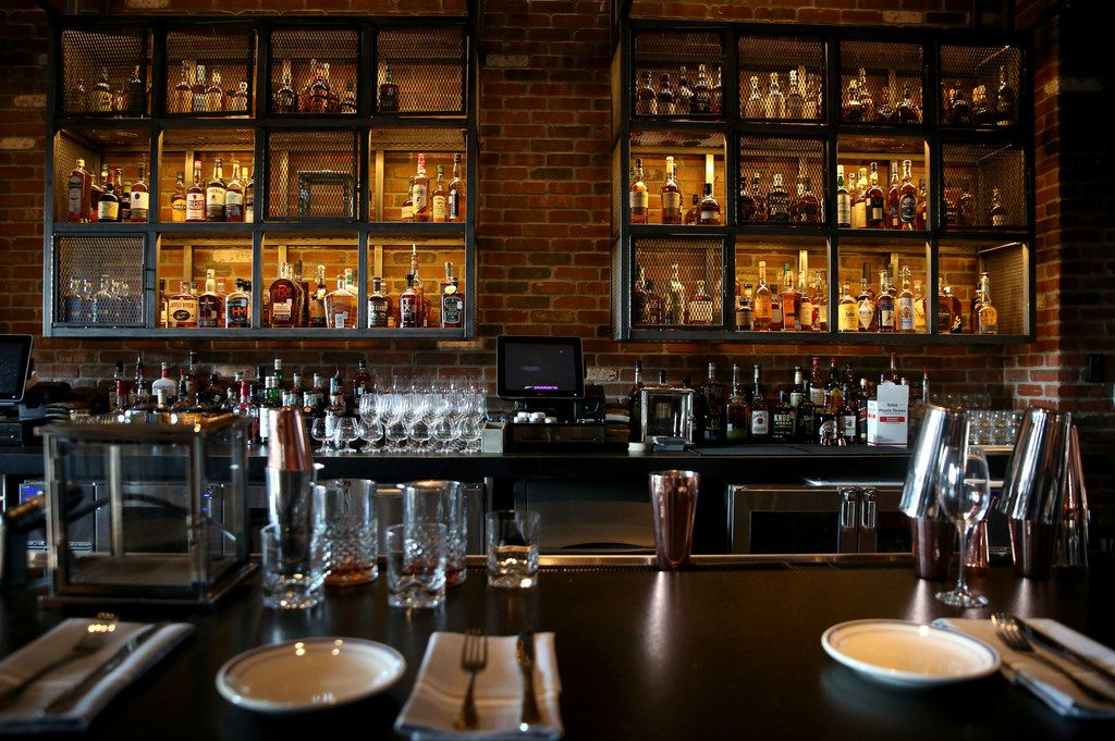 The whiskey lounge at Haywire in Plano is located on the first floor.