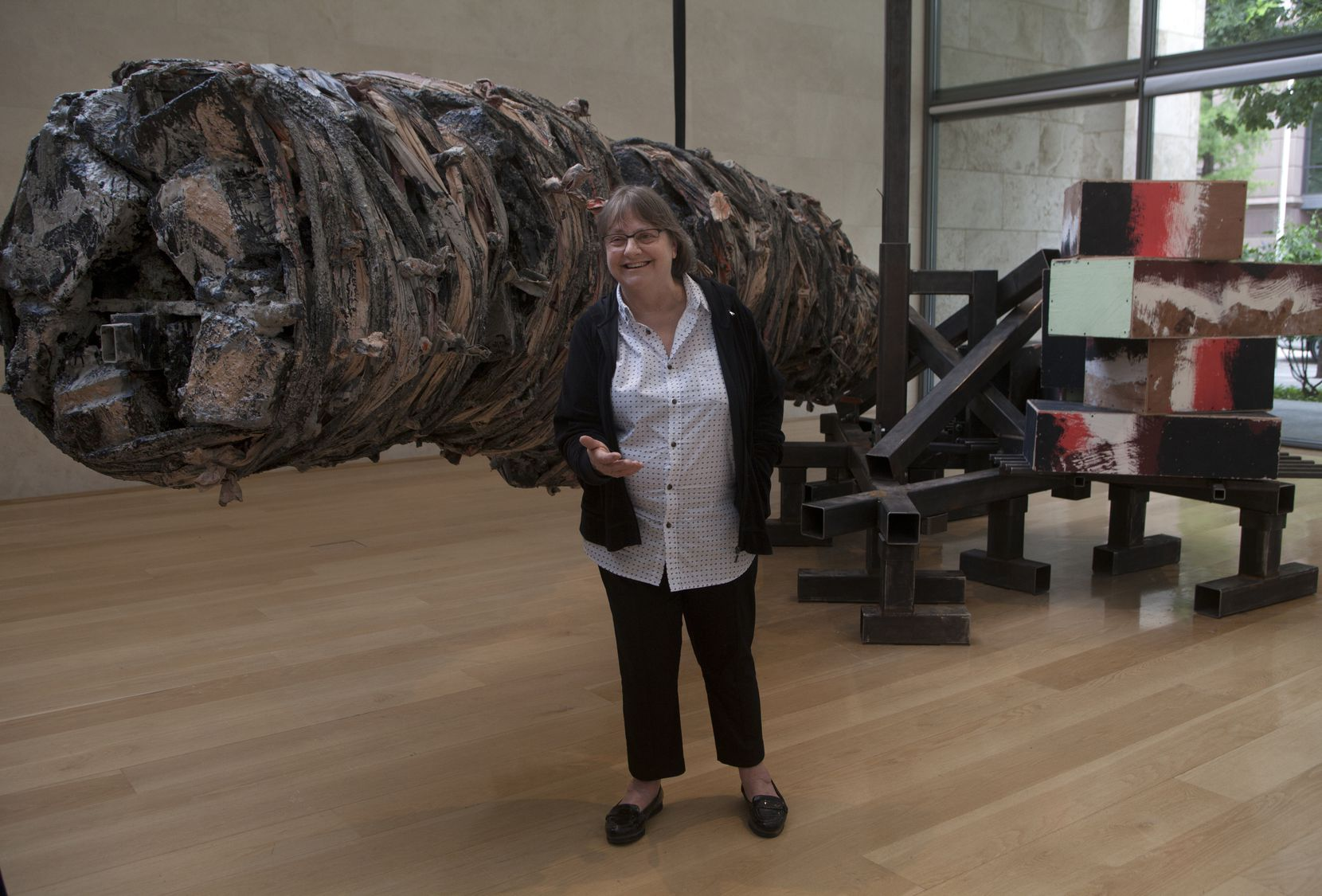 "The Kaleta A. Doolin Foundation helped the Nasher Sculpture Center obtain a major sculpture by Phyllida Barlow titled ""untitled:hangingmonument2015."""
