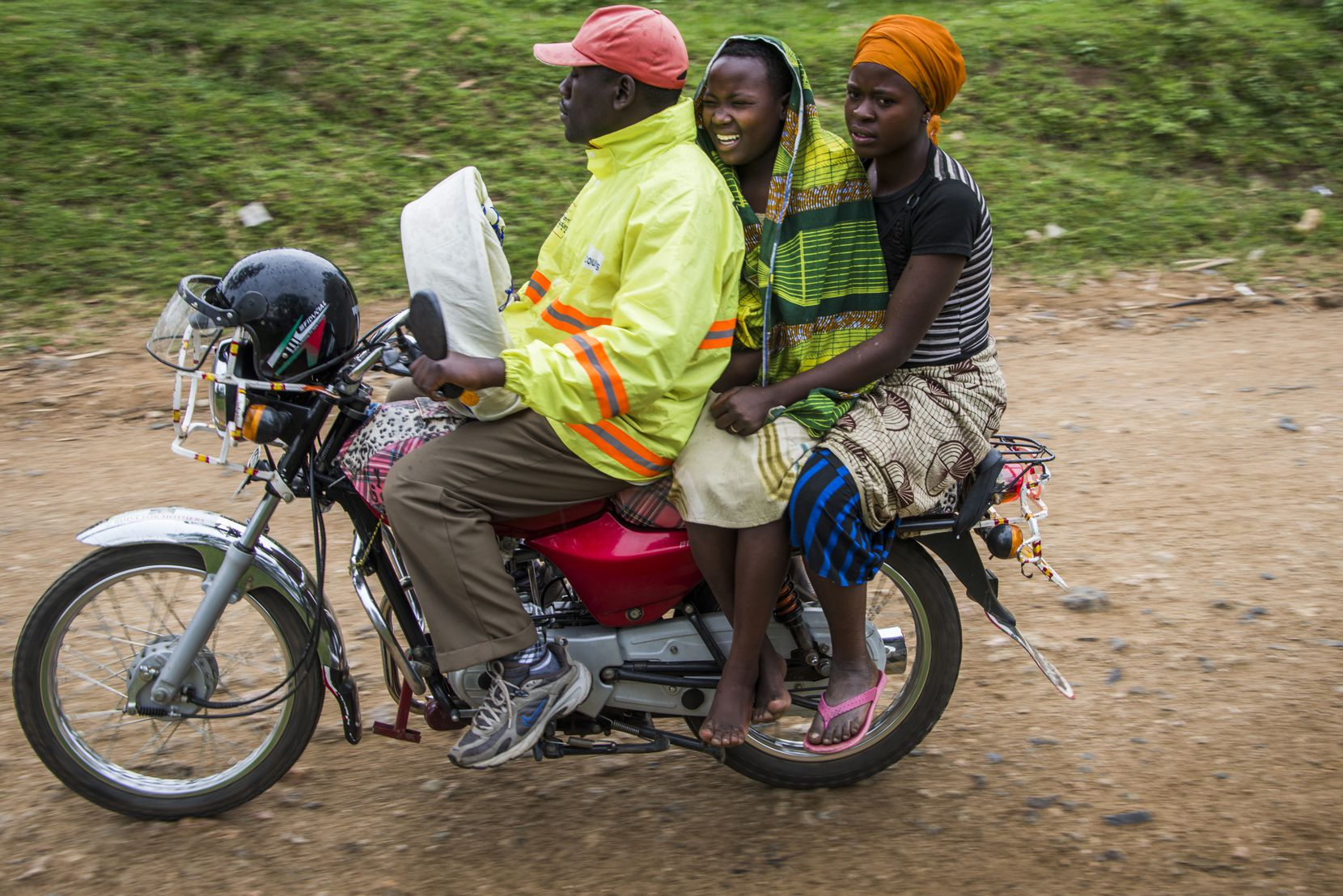 Motorcycles, called boda bodas, are contracted to respond immediately when a woman goes into labor. (Smiley N. Pool © 2014)