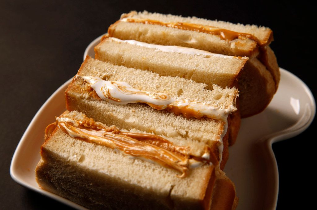 Peanut butter marshmallow creme sandwiches