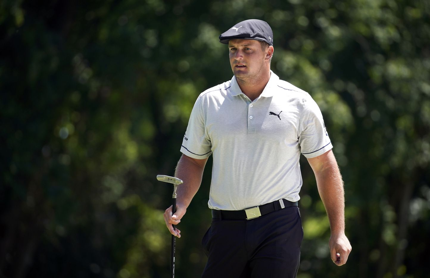 PGA Tour golfer Bryson DeChambeau finished  the third round tied for 9th with a 10-under in the Charles Schwab Challenge at the Colonial Country Club in Fort Worth, Saturday, June 13, 2020. The Challenge is the first tour event since the COVID-19 pandemic began. (Tom Fox/The Dallas Morning News)