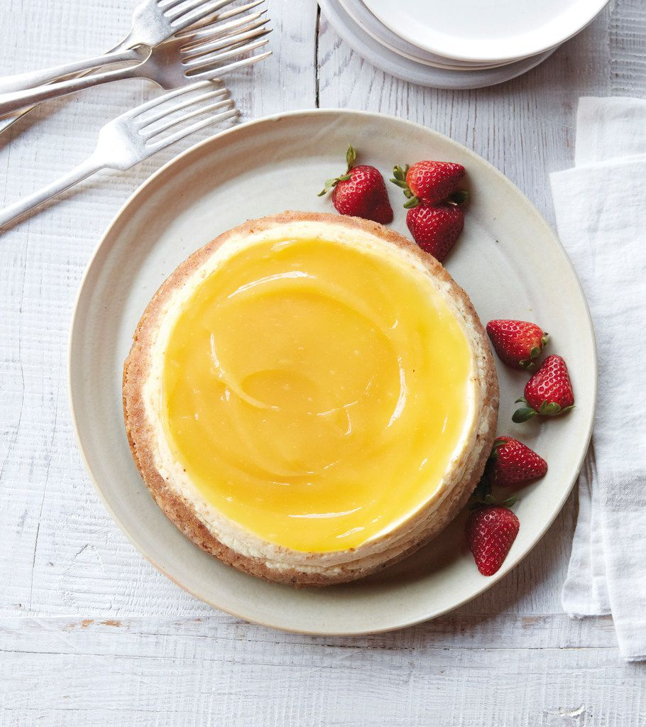 Meyer Lemon Cheesecake from The Essential Instant Pot Cookbook by Coco Morante
