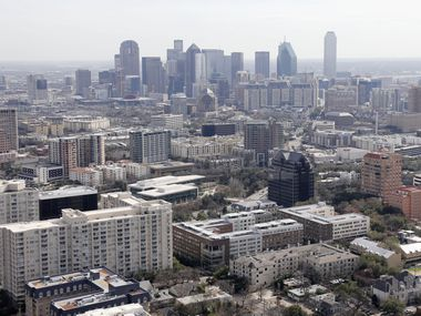 Apartment, condominium and office complexes in the Uptown, Oak Lawn, Turtle Creek and Cedar Springs areas north of downtown Dallas on Friday, February 15, 2019.