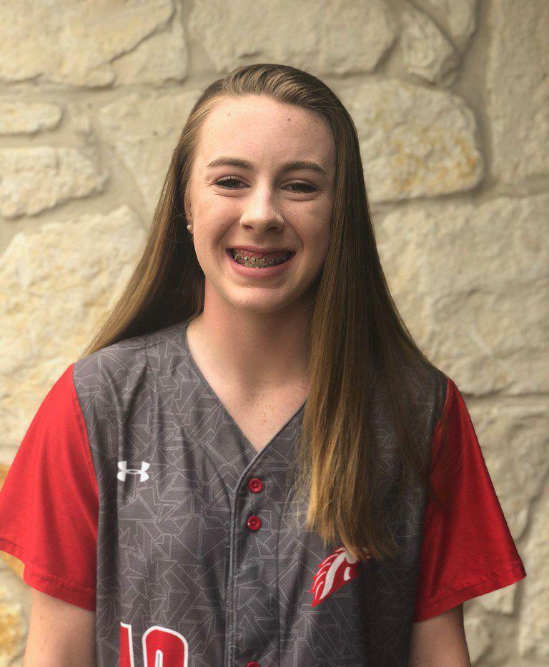 Kinsey Kackley, sophomore (2018-19) softball player at McKinney Boyd High School.