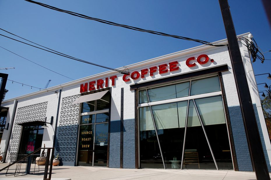 """""""Deep Ellum, you assume it's grungy? No, man. Let's give them something airy and beautiful,"""" co-founder Robby Grubbs says of the Merit Coffee in Deep Ellum."""