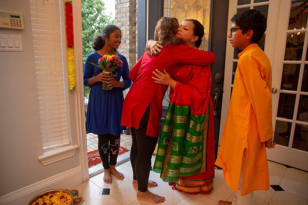 Sapna Punjabi-Gupta welcomes guests.