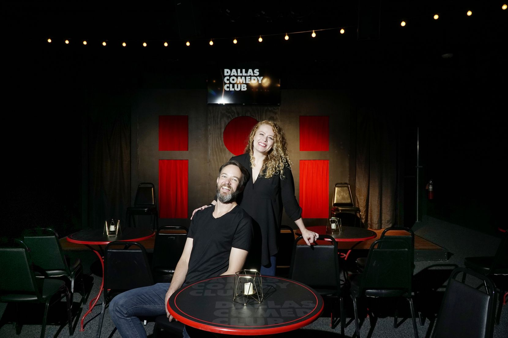 The new club's owners, Rosie and Ian Caruth, started performing at the former Dallas Comedy House in 2018, after moving from New York.