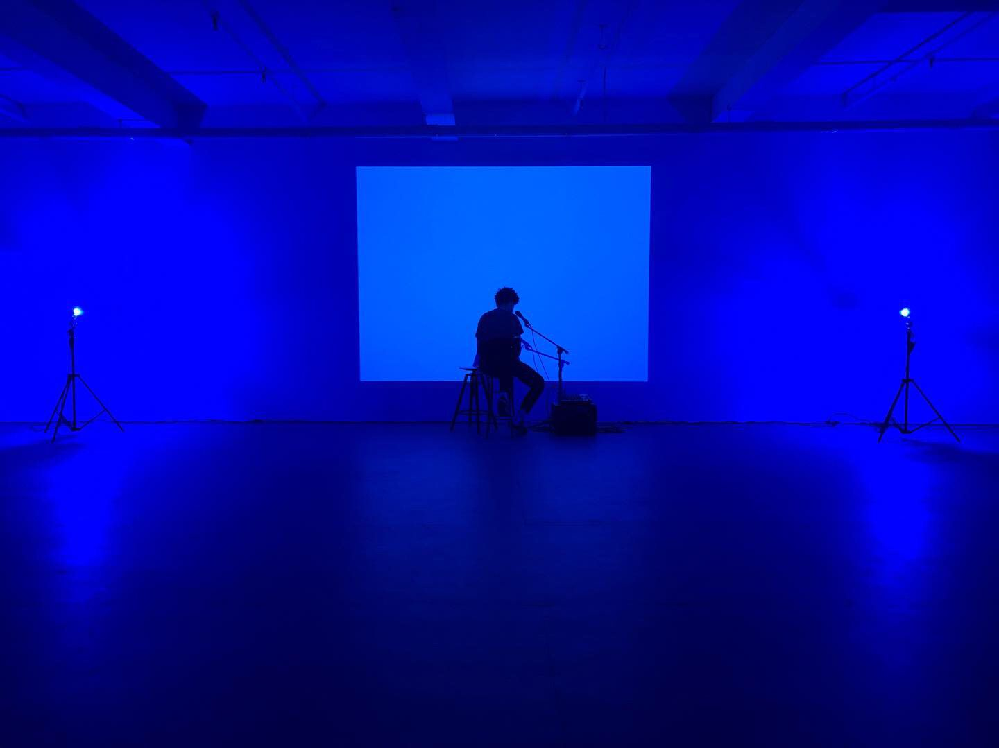 "In Le'Andra LeSeur's performance ""There Are Other Hues of Blue,"" the artist is bathed in blue light as she plays music and speaks searing and searching poetry."