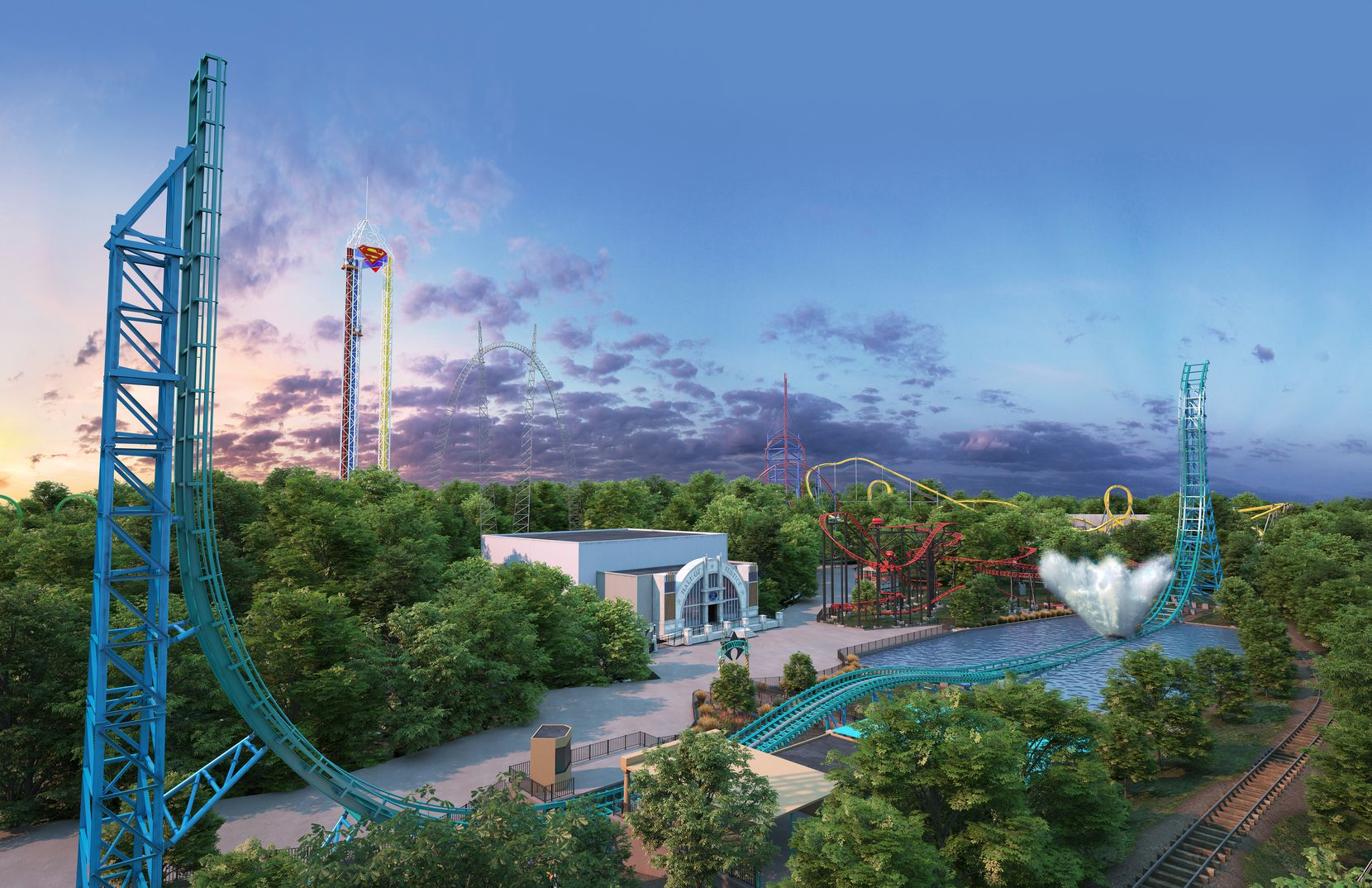 Aquaman: Power Wave is expected to open in the summer of 2022 at Six Flags Over Texas in Arlington.