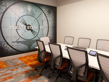 A conference room in Bethesda Game Studios' Dallas office (formerly Escalation Studios).