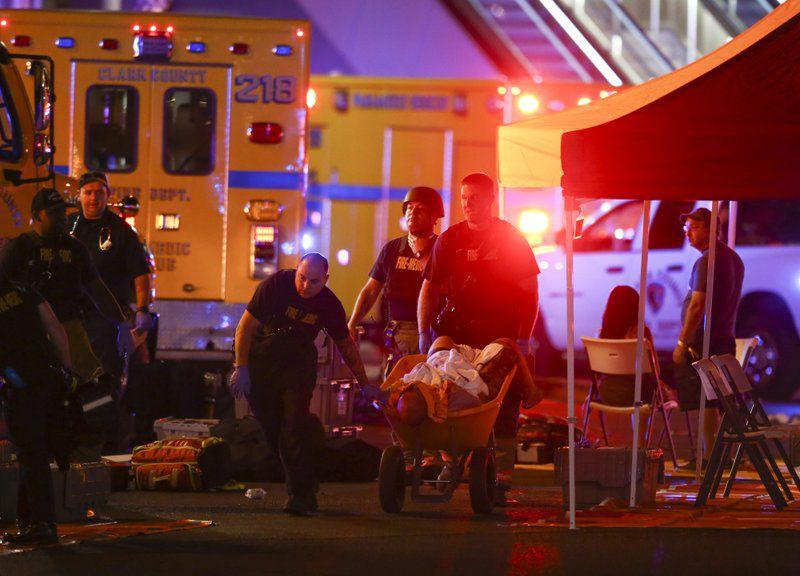 Al menos 50 muertos tras ataque de francotirador en Las Vegas. Foto AP