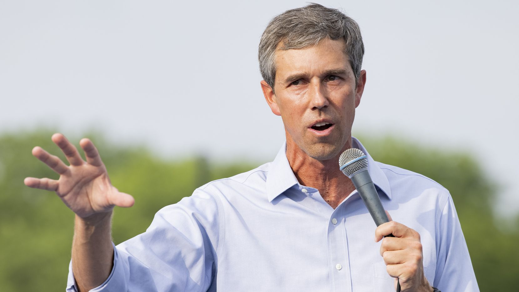 Former congressman Beto O'Rourke speaks during his For the People, The Texas Drive for Democracy event on Tuesday, June 8, 2021, at Paul Quinn College in Dallas.