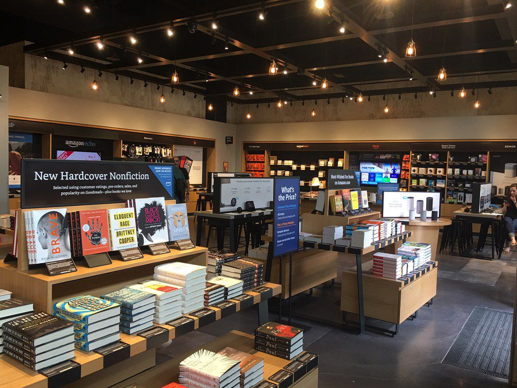 Interior of the first Amazon Books store in Texas which opened in Austin on Tuesday, March 6, 2018 in Domain Northside.