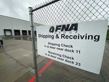 The loading docks at FNA Group's Mesquite facility. An expansion is bringing an estimated 300 jobs to the city.