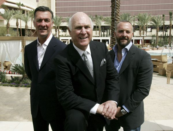 Members of the Fertitta family (from left) Frank Fertitta III, Frank Fertitta Jr. and Lorenzo Fertitta, shown at their Red Rock Resort hotel-casino in Las Vegas in 2006, have been generous contributors to Texas Gov. Rick Perry.