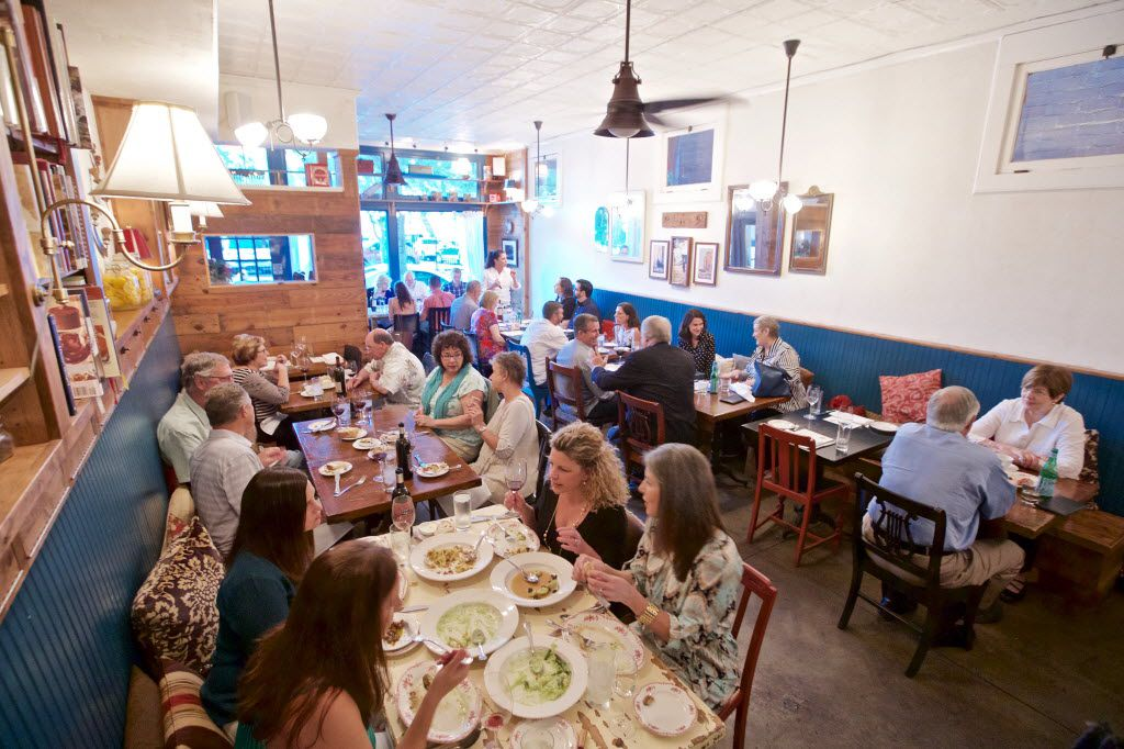 Lucia's dining room has only 36 seats – 32 of which can be reserved. A reservation there is probably the toughest in Dallas.