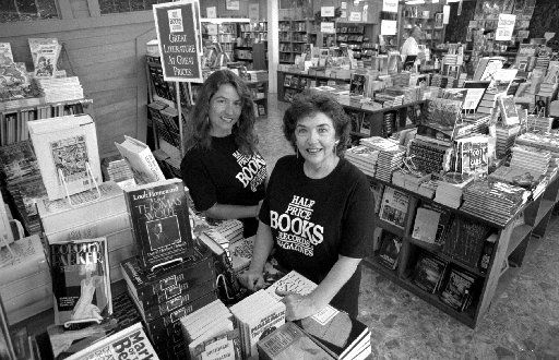 Boots Anderson and mother  Pat Anderson at a Half Price Books store in 1993.