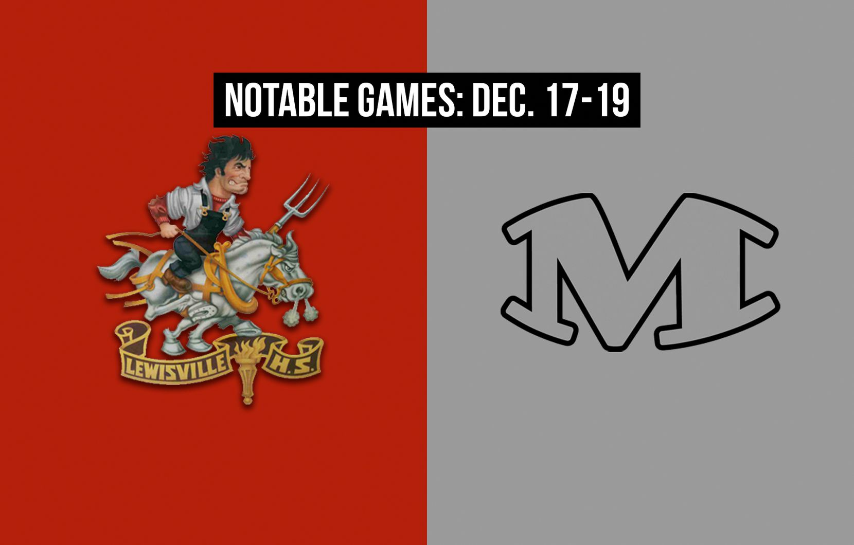 Notable games for the week of Dec. 17-19 of the 2020 season: Lewisville vs. Arlington Martin.