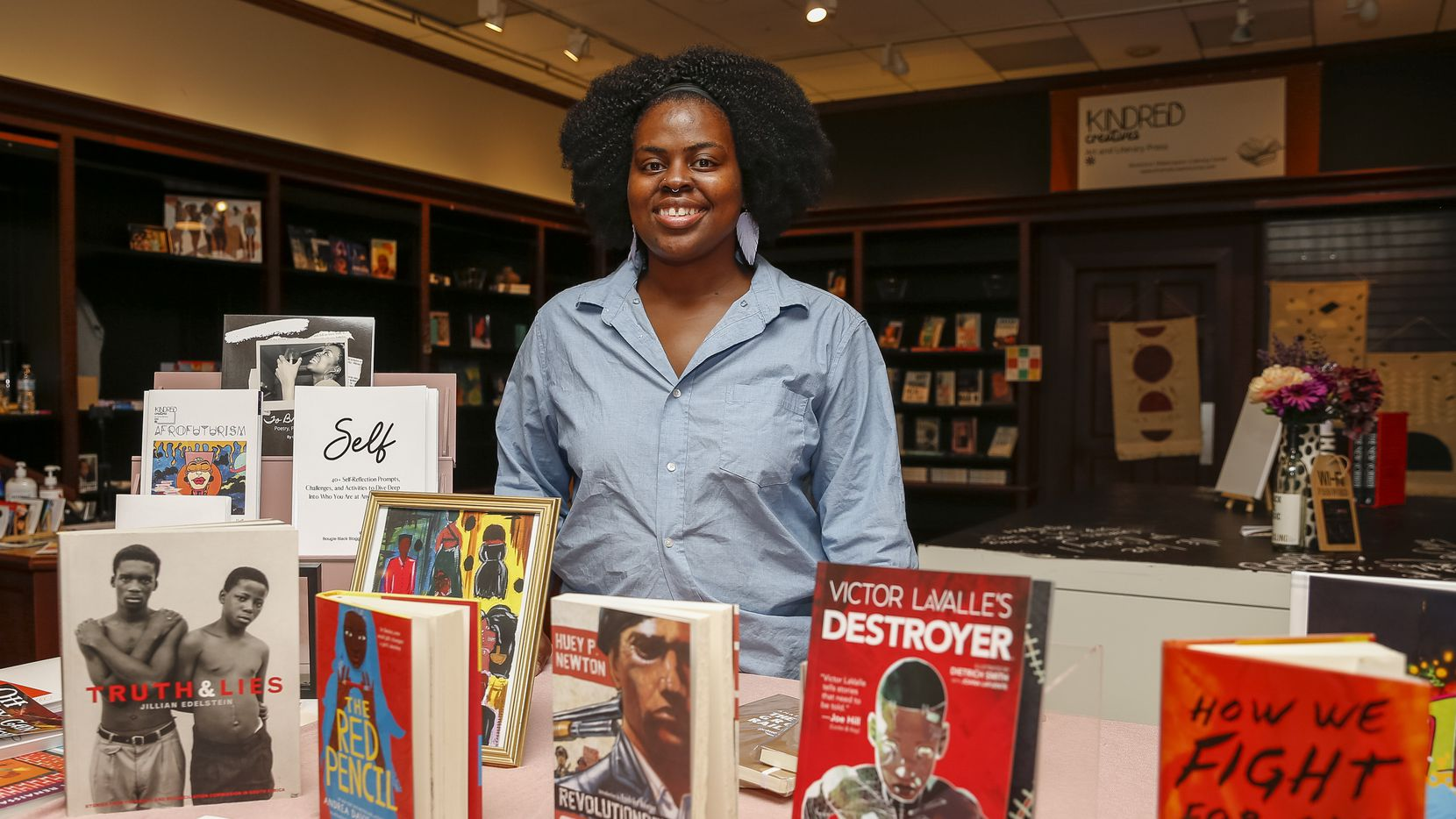 Cicely Carr is the owner of Kindred Creatives Art and Literary Press, which recently opened at Music City Mall Lewisville.
