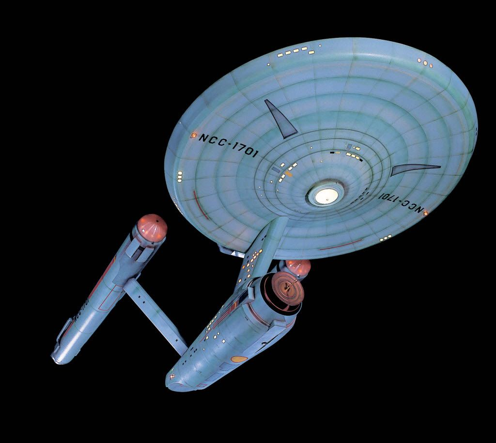 Studio model for Star Trek's starship Enterprise.