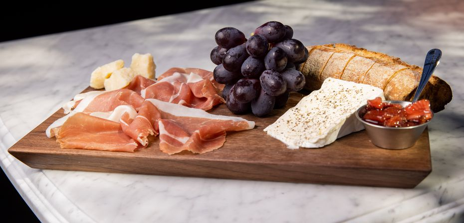 The prosciutto and délice board, $43, is a splurge. But it's a fun, shareable item to get lunch or dinner started.