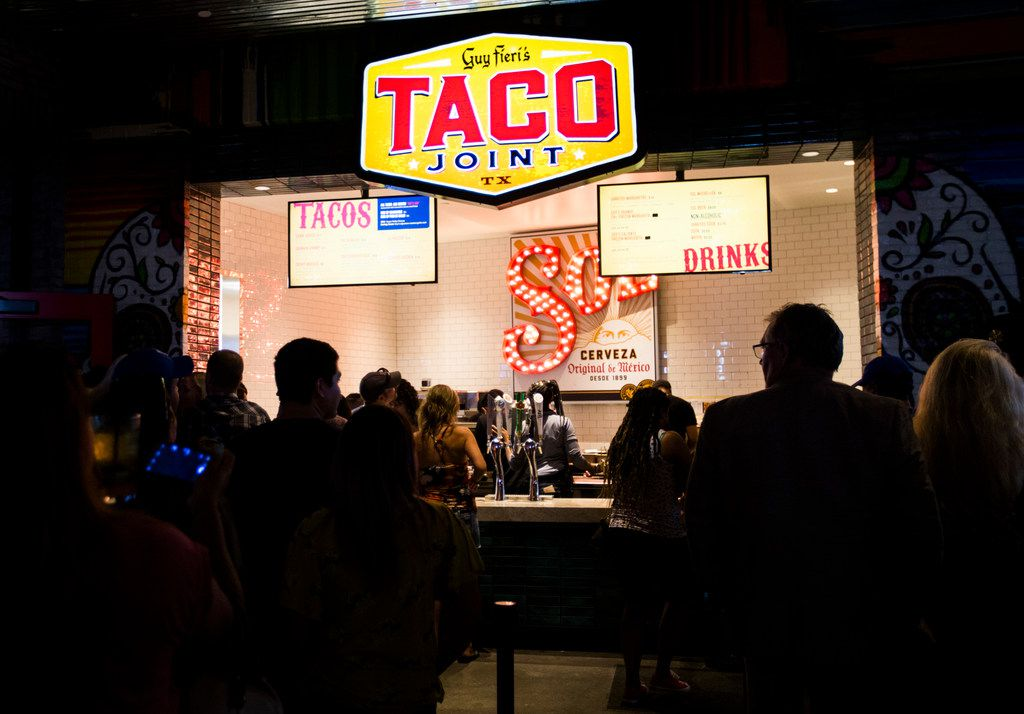 TV personality Guy Fieri opened an original concept called Guy's Taco Joint at Texas Live in Arlington.