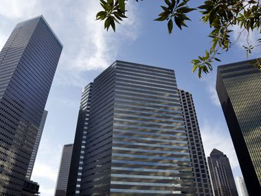 One Dallas Center tower was renovated into a combination of luxury apartments and offices.