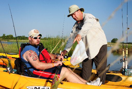 Blackstone got instruction on using a kayak by National Heroes on the Water in 2009.