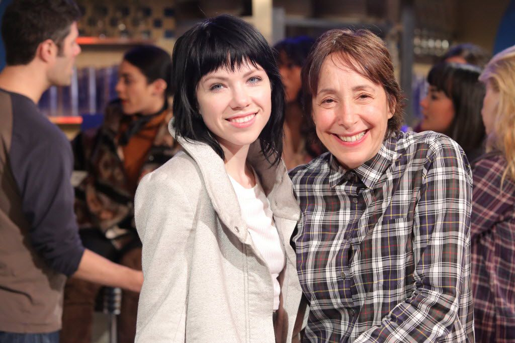 "Carly Rae Jepsen, left, who plays Frenhcy in Fox's ""Grease Live,"" and Didi Conn, who had the role in the classic 1978 film."