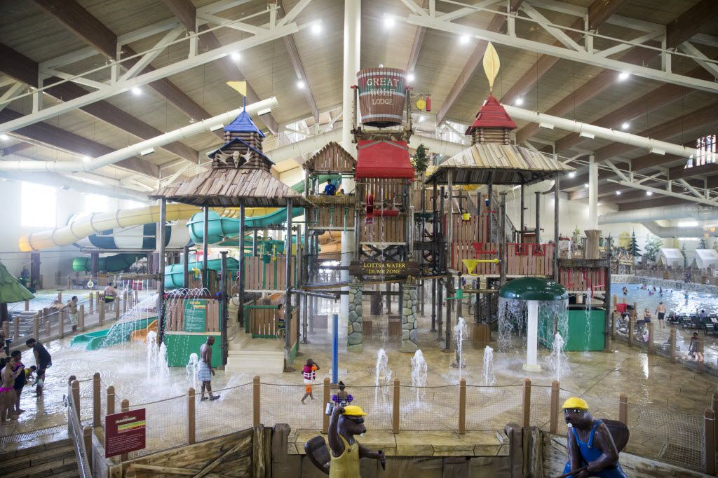 Hotel guests find fun away from the sun at the indoor water park at Great Wolf Lodge in Grapevine. Day passes are available for those not staying overnight.