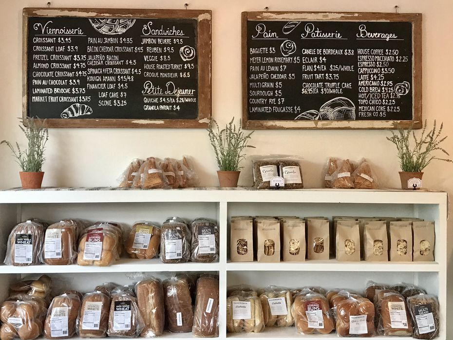 """Village Baking Co.'s top-selling items are croissants, pain au chocolat (chocolate croissants) and almond croissants, says co-founder Clint Cooper. He is most proud of the shop's baguette, which he says is """"the true test of a baker."""""""