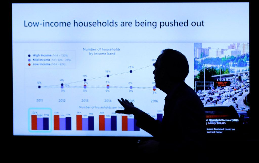 Microsoft Corp. president Brad Smith spoke Thursday at a news conference in Bellevue, Wash., to announce a $500 million pledge by Microsoft to develop affordable housing for low- and middle-income workers.