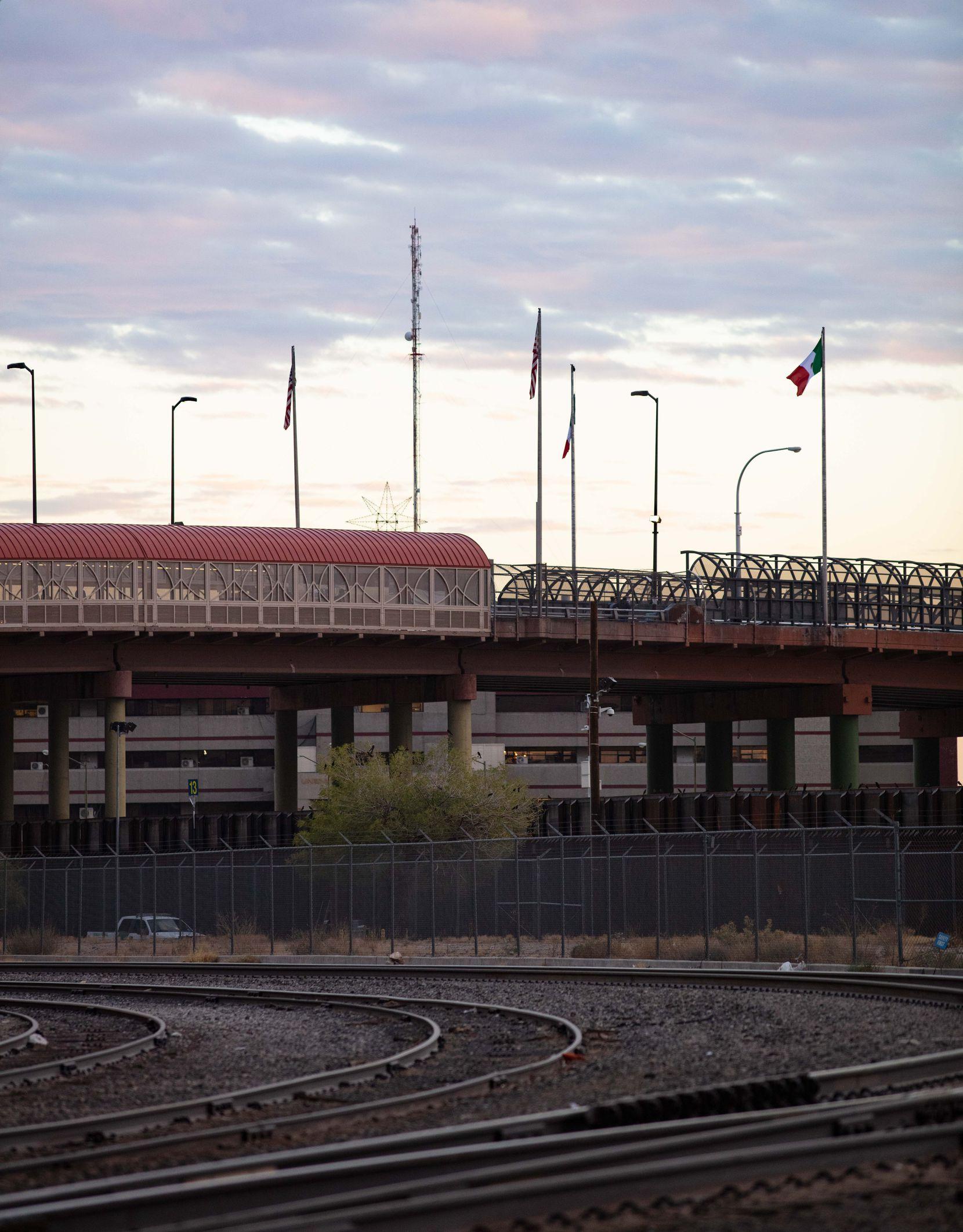 The Paso Del Norte international bridge in downtown El Paso.