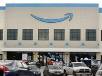 The new Amazon Fulfillment Center on Chalk Hill Rd in Dallas kind of looks like a department store.