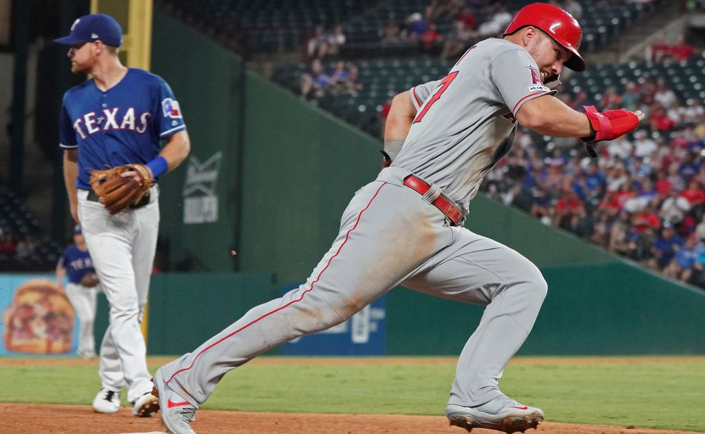 After dominant, record-setting season vs. Rangers, Mike Trout gives team a break by sitting out final meeting of the year