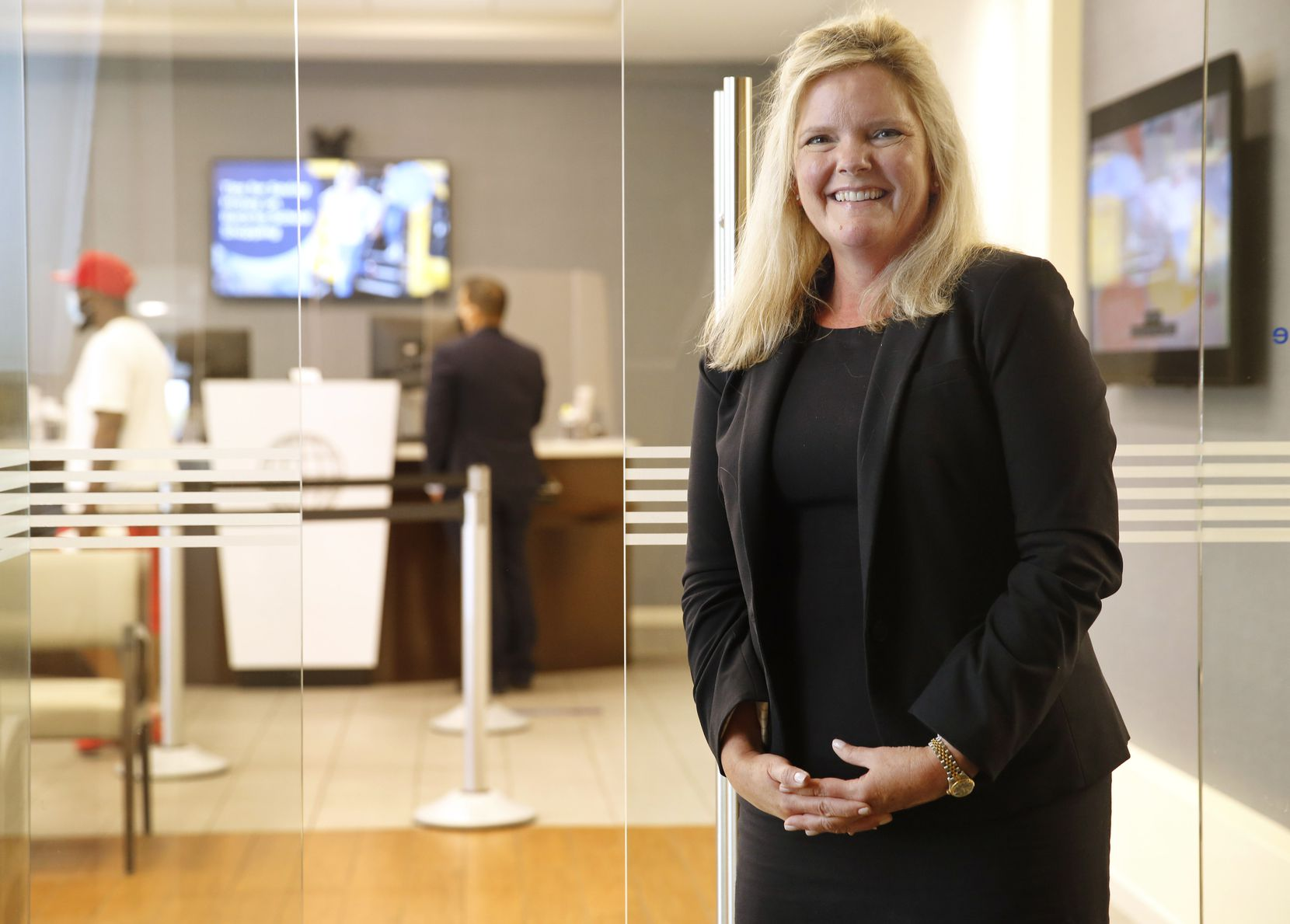 Michele Foster, regional manager of Texas North branch operations at Navy Federal Credit Union, says members see branch visits as part of their daily routine.
