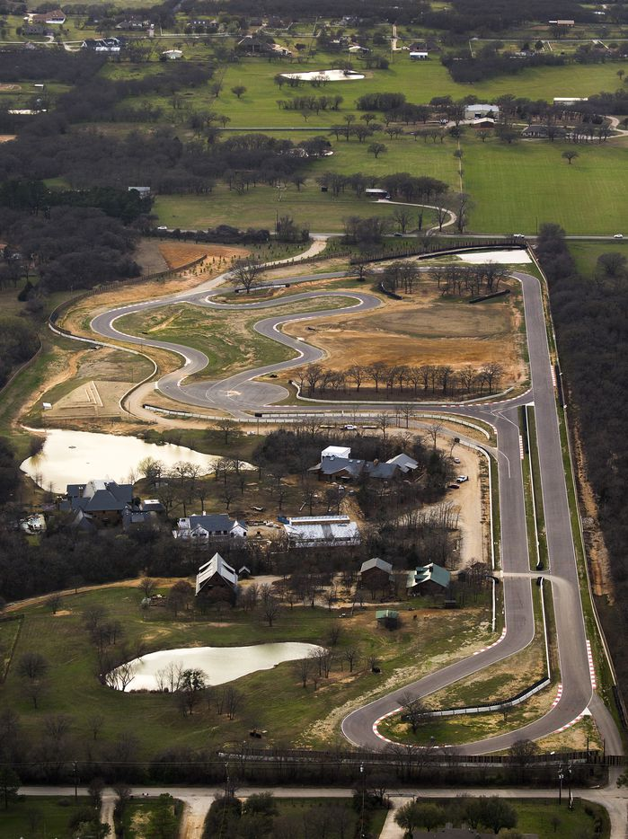 The site of the Toyota executive retreat in Denton County includes a racetrack and buildings between Hilltop Road and FM1830 just outside Argyle.