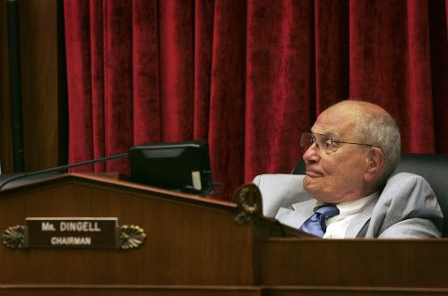 Rep. John Dingell (D-Mich.), chairs a hearing of the House Energy and Commerce Committee in 2007 (Stephen Crowley/The New York Times).