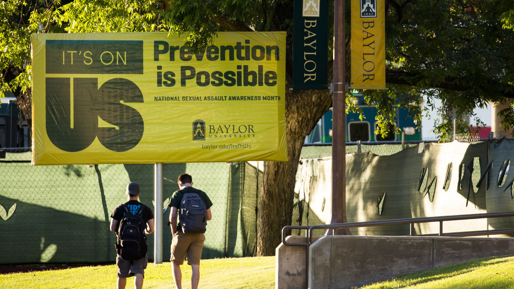 A Sexual Assault Awareness Month campaign sign on the Baylor University campus in May 2016. (File Photo/Smiley N. Pool)