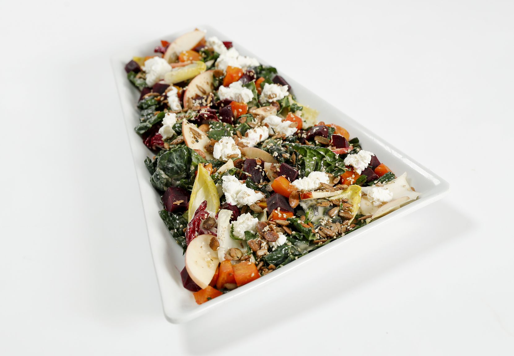 Tuscan Kale salad available on American Airlines' new Flagship Lounge menu and on select flights in first class.