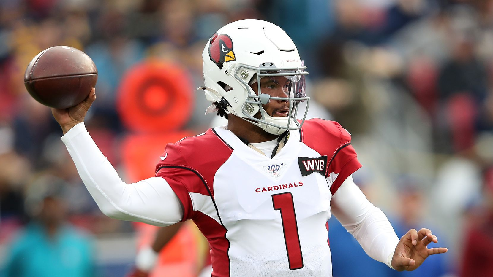 LOS ANGELES, CALIFORNIA - DECEMBER 29: Kyler Murray #1 of the Arizona Cardinals passes the ball during the second half of a game against the Los Angeles Rams at Los Angeles Memorial Coliseum on December 29, 2019 in Los Angeles, California.