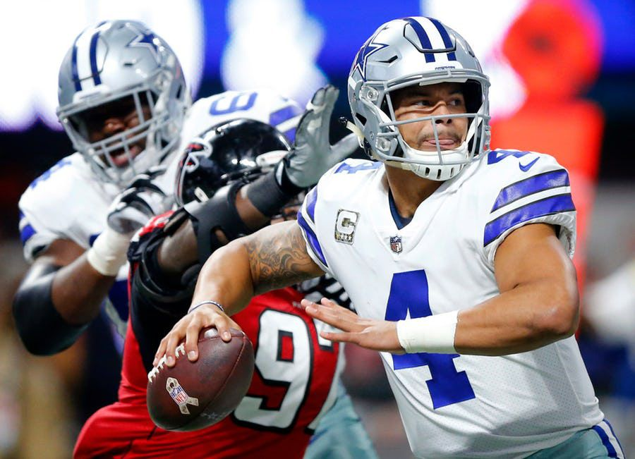 Dak Prescott y los Dallas Cowboys visitaron a los Falcons de Atlanta el domingo. Foto TOM FOX/DMN
